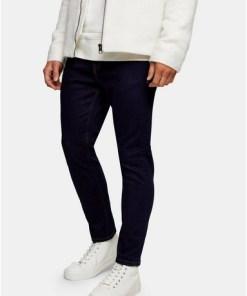 GROBStretch-Jeans aus unbehandeltem Denim in Karottenform, GROB