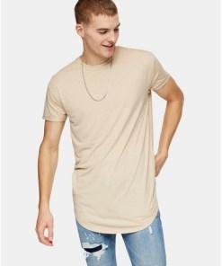 Langes T-Shirt, beige, BEIGE