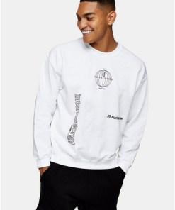 BEIGESweatshirt mit 'International'-Schriftzug, weiß, BEIGE