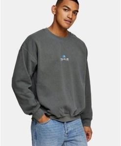 "Sweatshirt mit ""Paris Overdye""-Schriftzug, khaki, KHAKI"