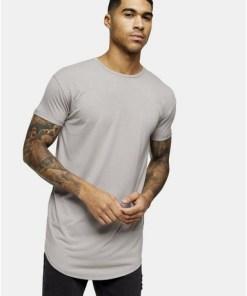 T-Shirt, hellgrau, GRAU