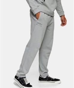 Jogginghose mit Print, grau, GRAU
