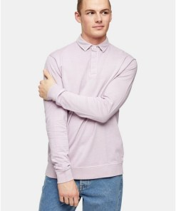 VIOLETTRugby-Sweatshirt, verwaschenes Flieder, VIOLETT