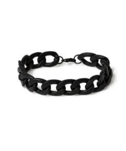 Kettenarmband, schwarz, SCHWARZ