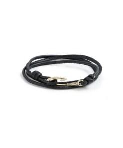 Wickelarmband, schwarz, SCHWARZ