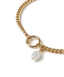 GOLDArmband mit Ring und Perlen*, GOLD