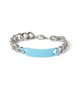 Kettenarmband mit Riegel, blau, BLAU