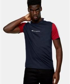 NAVY BLAUChampion T-Shirt mit Farbblock-Design, navyblau, NAVY BLAU