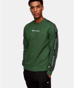 CHAMPION Sweatshirt mit Logo, grün, GRÜN