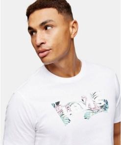 Levi's 'Housemark' T-Shirt mit Grafik, weiß, WEIß
