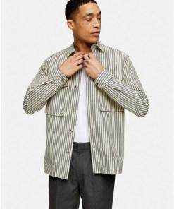 Considered Hemdjacke mit Streifen, cremeweiß, CREME