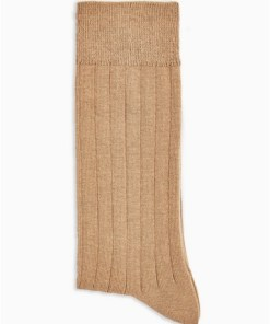 BRAUNGerippte Socken, camel, BRAUN