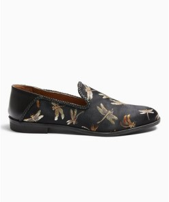 MULTIHouse of Hounds Loafer aus Satin mit Libellen-Print, MULTI
