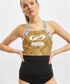 Puma Frauen Badeanzug Snake in schwarz