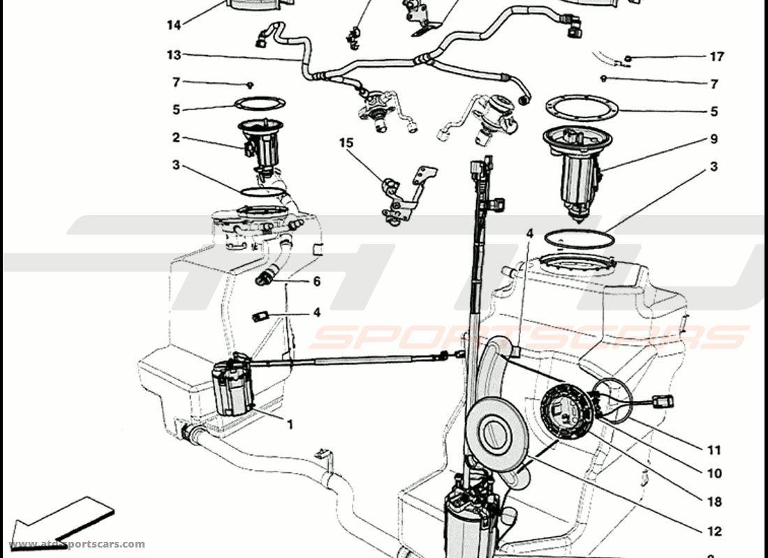 Ferrari 458 Speciale Fuel Pumps And Pipes Parts