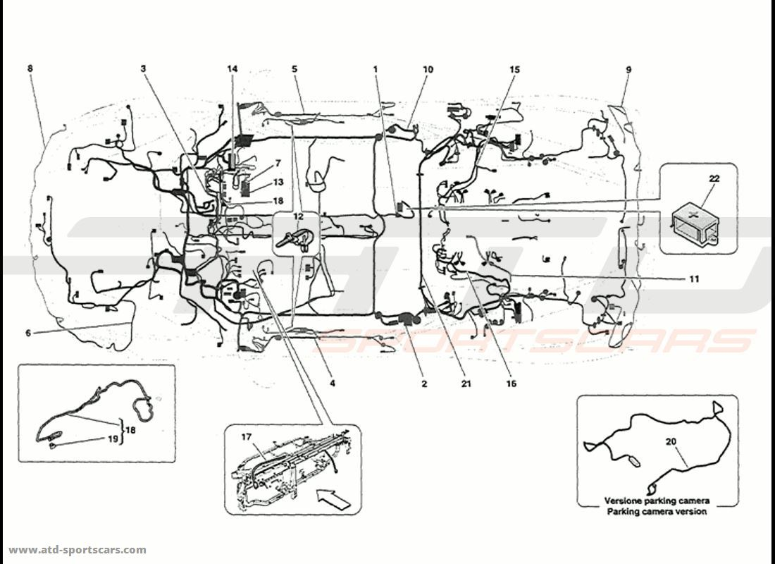 Ferrari 458 Speciale Main Wiring Parts