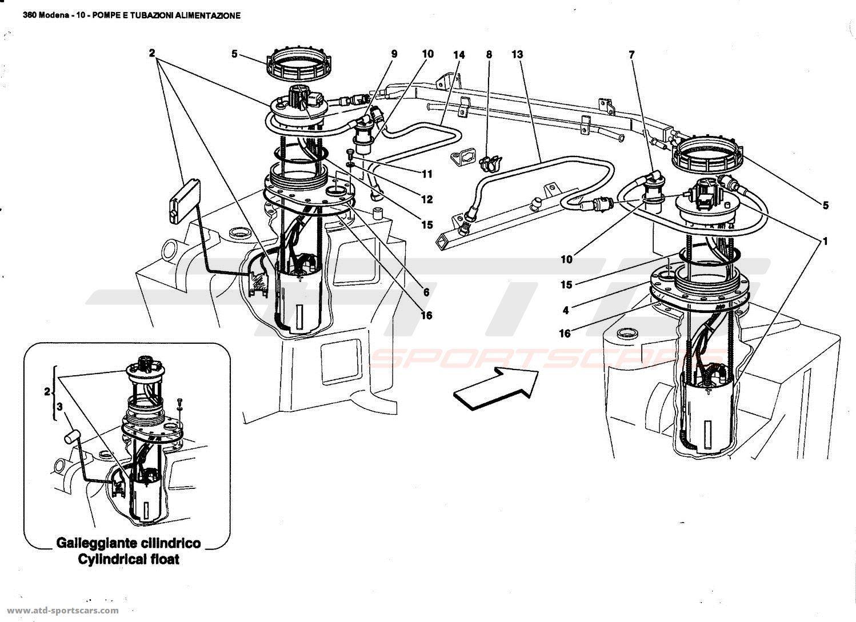 Ferrari 360 Modena Fuel Pump And Pipes Parts At Atd