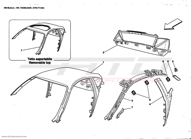 Ferrari 360 Modena Body Parts At Atd Sportscars