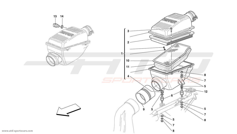 Ferrari 456 Gt Gta Air Intake