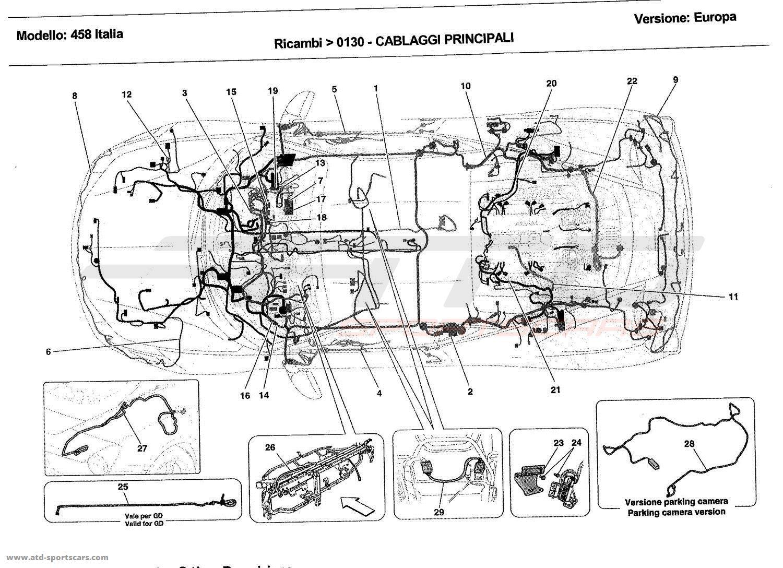 Ferrari 458 Italia Main Wiring Parts At Atd Sportscars