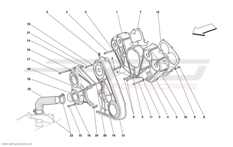 Ferrari 550 Maranello Engine Parts At Atd Sportscars