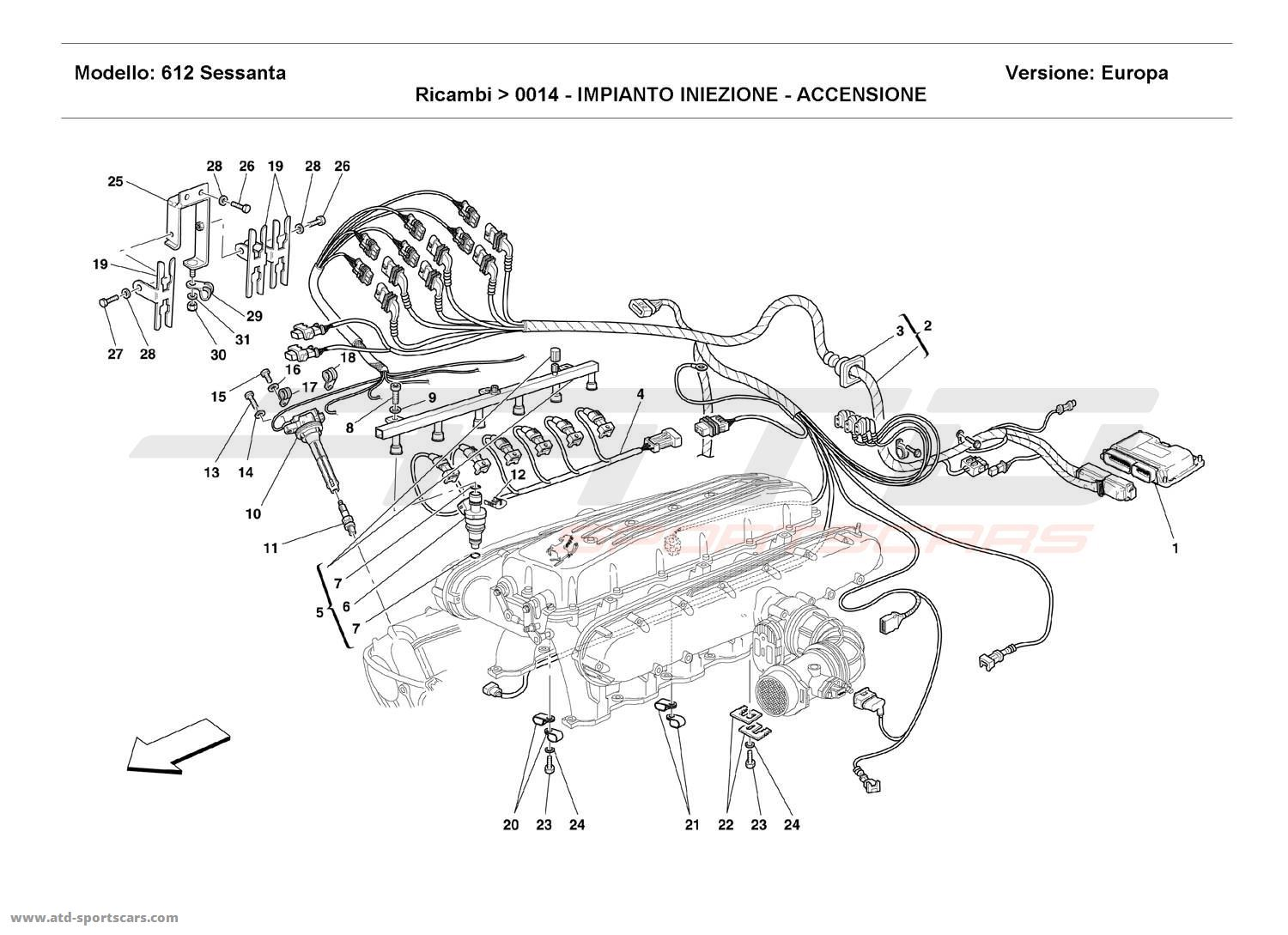 Ferrari 612 Sessanta Engine Parts At Atd Sportscars