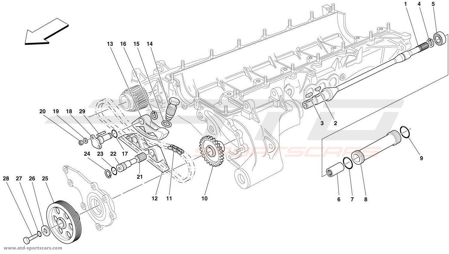 ferrari f50 engine parts at atd sportscars