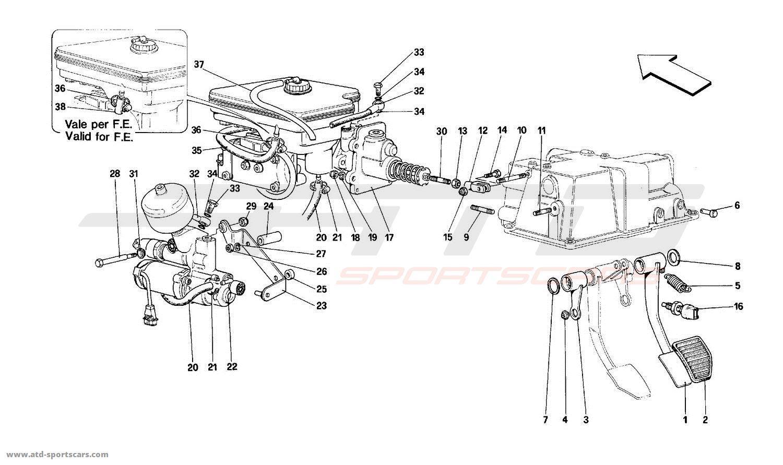 Ferrari Mondial T Brakes Parts At Atd Sportscars