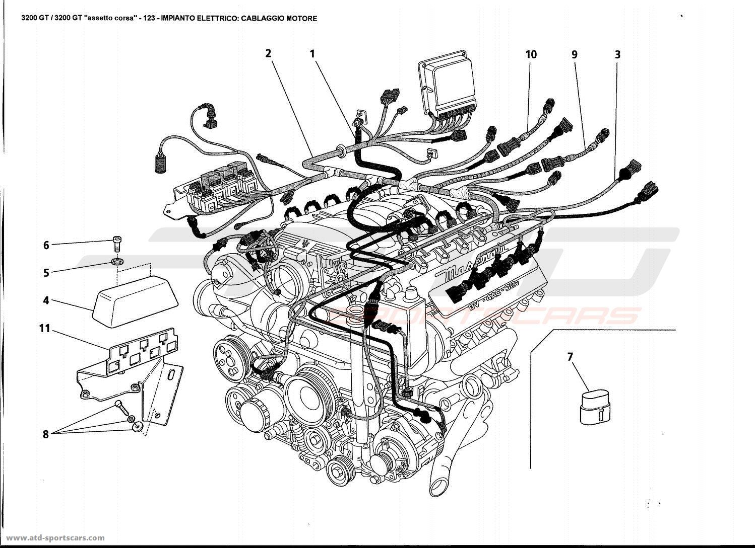 Maserati Gt Electrical System Engine Harness Parts
