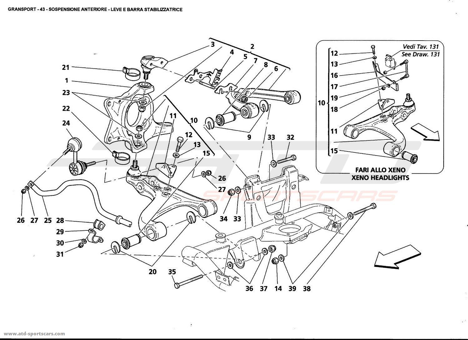Maserati Gransport Undercarriage Parts At Atd