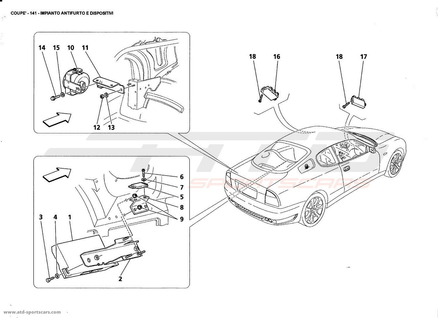 maserati gt coupe electrical parts at atd sportscars