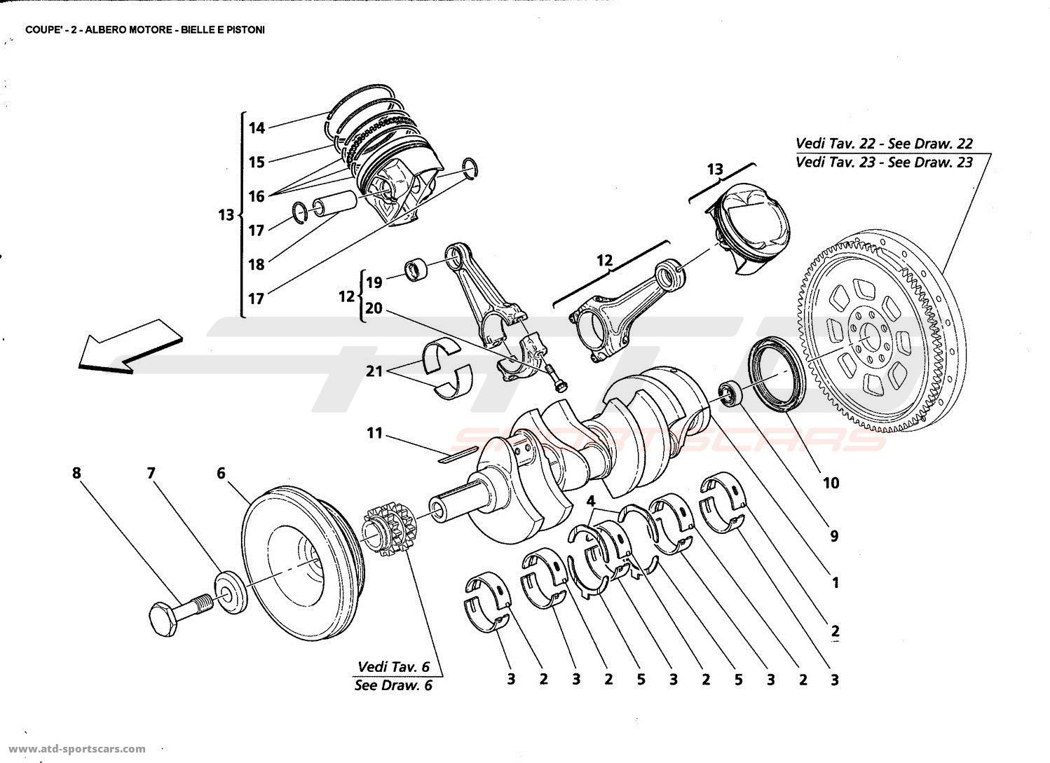 Maserati Gt Coupe Engine Parts At Atd Sportscars