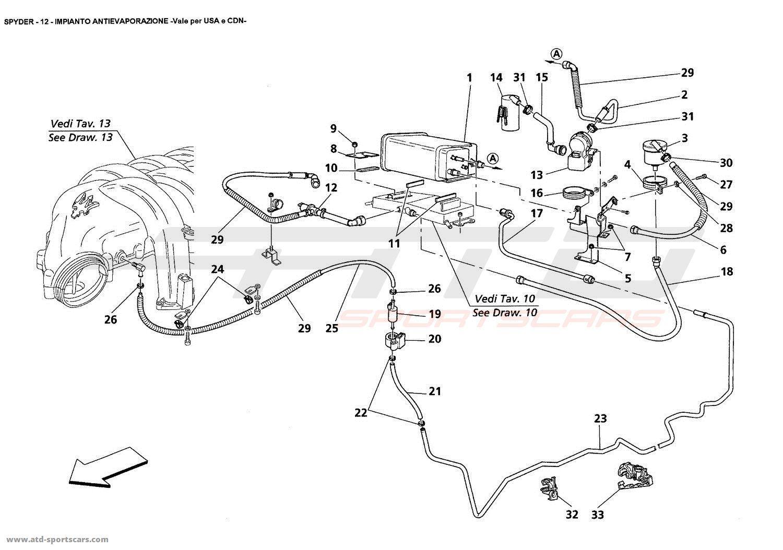 Maserati Spyder Air Intake