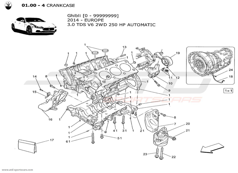 Maserati Ghibli V6 3 0lsel Auto Crankcase Parts