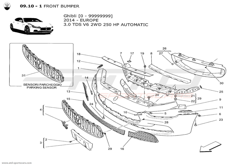 Maserati Ghibli V6 3 0lsel Auto Body Parts At Atd
