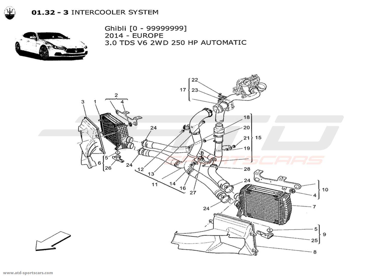 Maserati Ghibli V6 3 0lsel Auto Air Intake