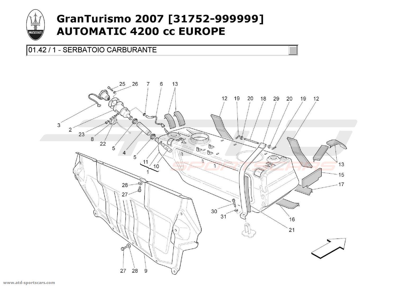 Maserati Granturismo 4 2l Boite Auto Air Intake
