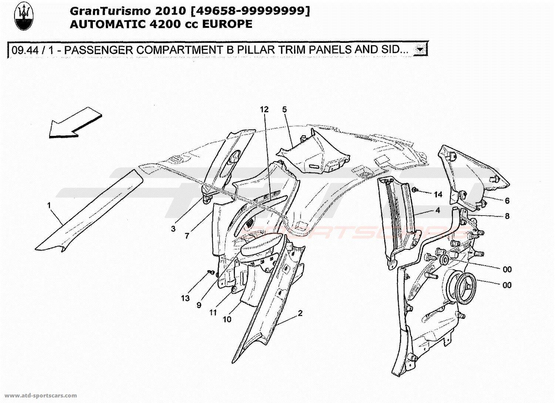 Maserati Granturismo 4 2l Boite Auto Interior Parts At Atd Sportscars