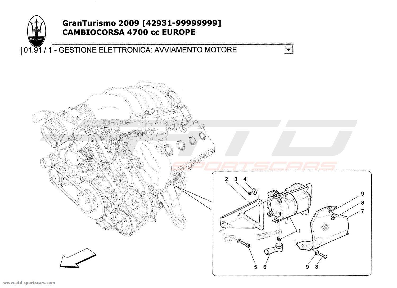 Maserati Granturismo 4 7l Boite F1 Electrical Parts