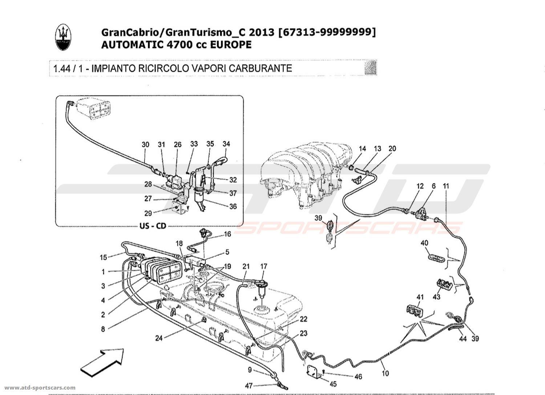 Maserati Granturismo Grancabrio 4 7l Auto Air Intake