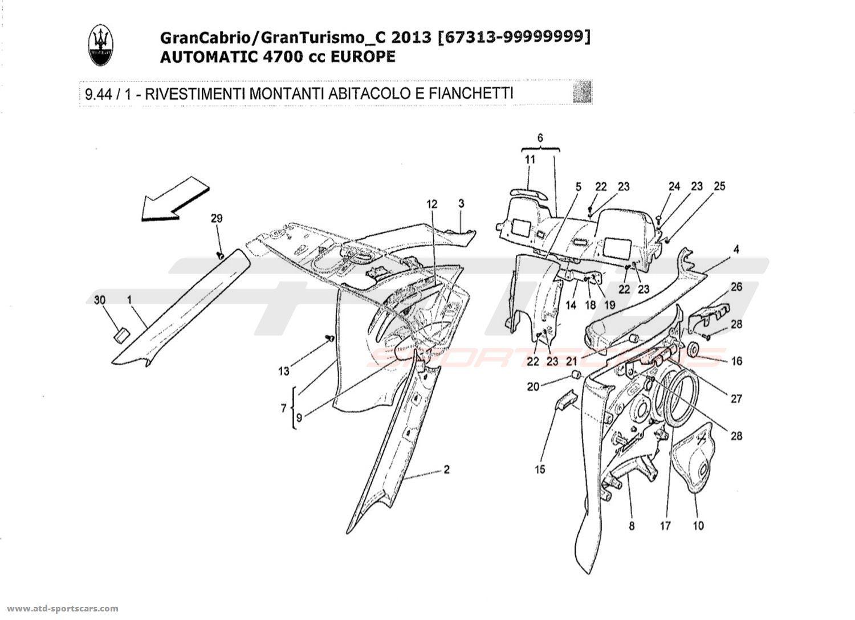 Maserati Granturismo Grancabrio 4 7l Auto Interior Parts At Atd Sportscars