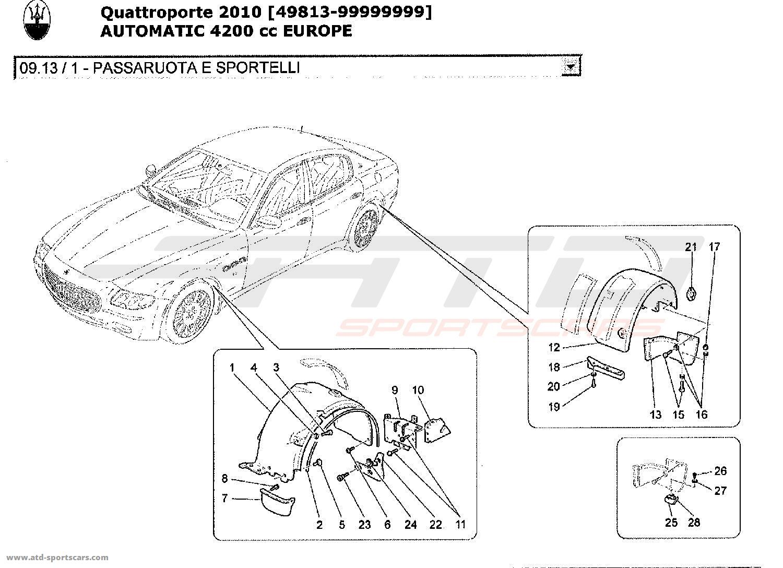 maserati quattroporte 4 2l boite auto body parts at atd sportscars