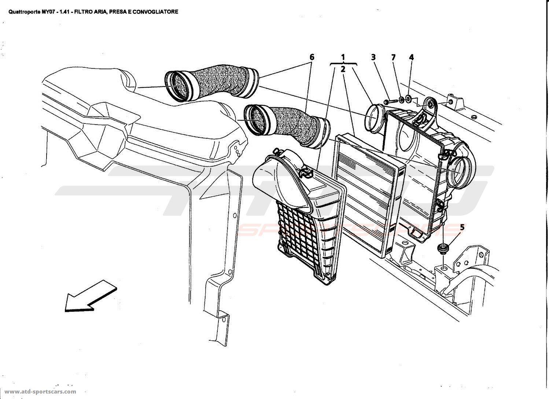 Maserati Quattroporte 4 2l Boite F1 Air Filter Intake And Conveyor Parts At Atd Sportscars