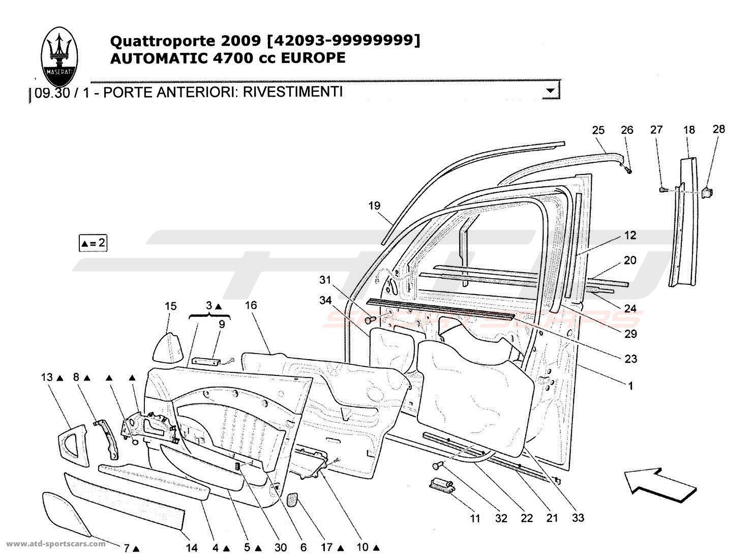 Maserati Quattroporte 4 7l Boite Auto Body Parts At Atd Sportscars