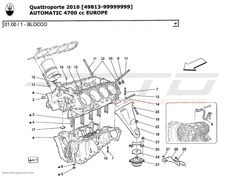 Maserati Quattroporte 4 7l Boite Auto Engine Parts At Atd Sportscars