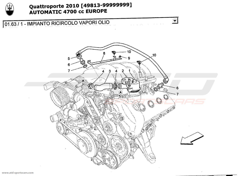 Maserati Quattroporte 4 7l Boite Auto Air Intake