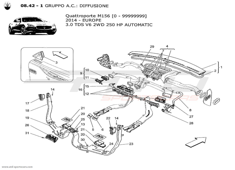 Maserati Quattroporte V6 3 0lsel Auto A C Unit
