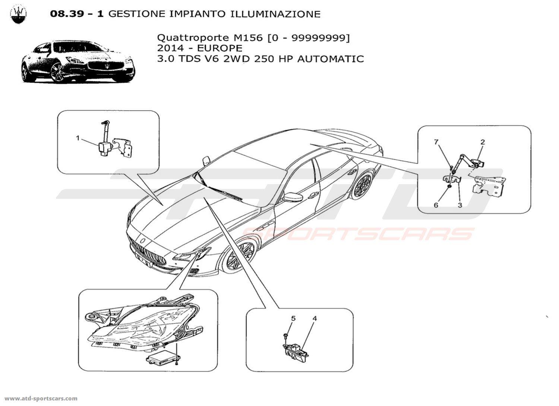 Maserati Quattroporte V6 3 0lsel Auto Glasses