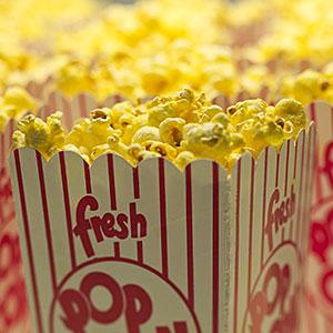 Movie popcorn: Image: Movie theater popcorn © Lanny Ziering, Brand X Pictures, Getty Images