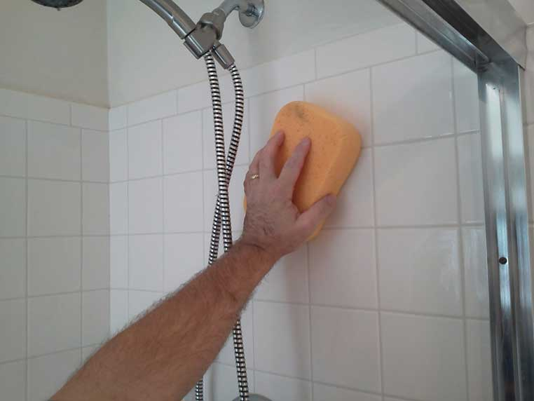 how to clean shower tile grout